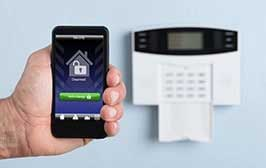 Security alarm system integrated to a phone.